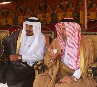 آل هذلول مع الشيخ سعيد بن حمود شيخ قبيلة آل مطرق