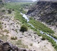 وادي حلي الشهير في محايل عسير كما بدى امس