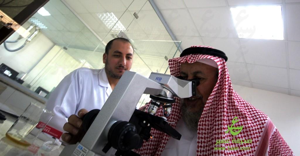 خلال تجربته لكشف العينات